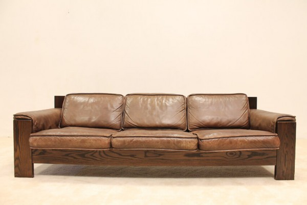 Design Bank Leolux.Vintage Leather 3 Seat Sofa By Leolux Seventiesdesign